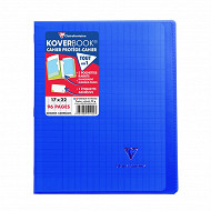 Clairefontaine koverbook 170x220 96 pages seyes translucide bleu marine