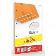 Cora lot de 3 blocs 21x31.5 160 pages 80 g seyes