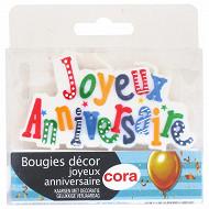 Cora bougies sur pics joyeux anniversaire