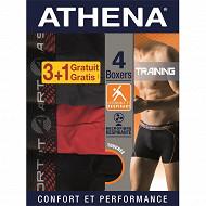 Boxer trainning lot de 3 + 1 offert Athena 2051 NOIR/NOIR/NOIR/NOIR T6