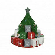 "Calendrier avent""sapin"" h28,5cm"
