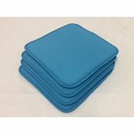 Anjosa lot de 4 galettes 40x40x1.7 cm poly/lustrasil uni bleu n°23 réf 951-CR25