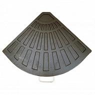 Dalle parasol 12 kg l47xw65xh3.8cm, 12 kg en résine coloris noir - JY-080
