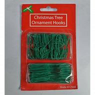 Set de 100 crochets métal vert 3 et 6 cm