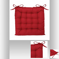 Galette chaise 38x38cm rouge