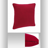 Coussin rouge 45x45cm passepoil