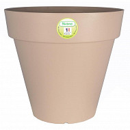 Riviera bac soleilla rond 25 cm taupe