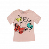Tee shirt manches courtes ROSE 13-1310 TPX 14 ANS