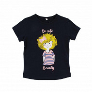 Tee shirt manches courtes fille MARINE 12 ANS