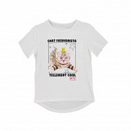 Tee shirt manches longues fille BLANC 12 ANS