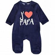 Dors bien j'aime maman papa bébé garçon MARINE PAPA 24MOIS