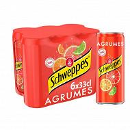 Schweppes agrumes boite 6x33cl