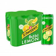 Schweppes lemon boite slim 6x33cl