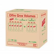 Ajax nettoyant ménager éco responsable rose 5x1250ml + 3 offerts