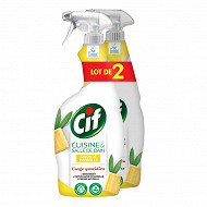 Cif pistolet spray nettoyant cuisine & salle de bain savon de Marseille 1.5l