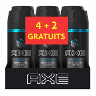 Axe déodorant homme spray menthe glaciale & citron spray lot 6x150ml (4+2 grt)