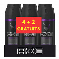 Axe déodorant homme spray anti-transpirant provocation 6x150ml (4+2 grt)