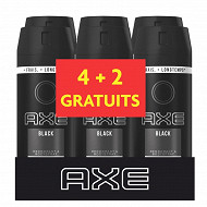 Axe déodorant homme spray anti transpirant Black 6x150ml (4+2grt)