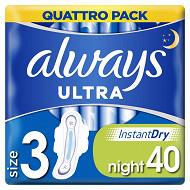 Always ultra serviettes nuit x40