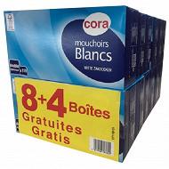 Cora mouchoirs boîtes x8 + 4 gratuites