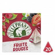 Eléphant infusion fruits rouges 20 sachets 36g