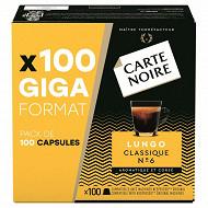 Carte Noire capsules lungo classic type nespresso x100 560g