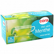 Cora thé vert menthe 25 sachets 40g