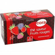Cora thé saveur fruits rouges 25 sachets 40g