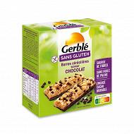 Gerblé barre céreéales chocolat au riz croustillant sans gluten 132g