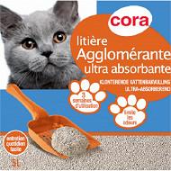 Cora litière agglomérante blanche 5l