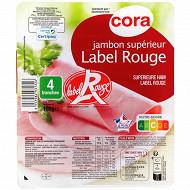 Cora jambon supérieur Label rouge sans couenne 4 tranches 160g