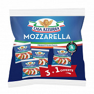 Casa Azzurra mozzarella de vache 3x125g + 1 offerte