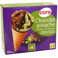 Cora cône chocolat pistache 6x120ml 402g