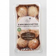 8 mini briochettes brie truffes été (Tuber aestivum 1%) 96g Defroidmont