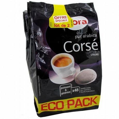 Cora dosettes souples arabica corsé 2 x 48 - 2x333g