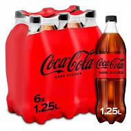 Coca-Cola zéro pet 6x1.25l contour