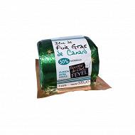 Bloc de foie gras de canard 50% morceaux rond sous vide 320g