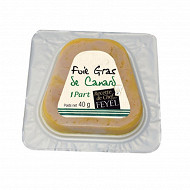 Foie gras de canard tranche forme trapeze en emballage individuel 40g
