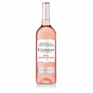 Cambras Vin de France Merlot Cabernet Sauvignon rosé 75cl 12%vol