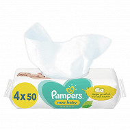 Pampers lingettes max care new baby sensitive 4x50