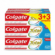 Colgate total effet visible dentifrice proof 75ml 3+3