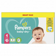 Pampers baby dry langes geant maxi taille 4 92 ct