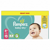 Pampers baby dry langes geant maxi taille 4p 84 ct