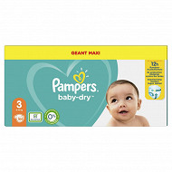 Pampers baby dry langes geant maxi taille 3 104ct