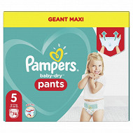 Pampers baby dry pants couches culottes geant maxi taille 5