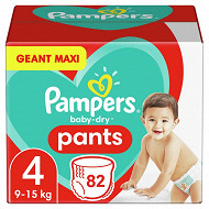 Pampers baby dry pamts couches culottes geant maxi taille 4