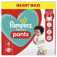 Pampers baby dry pamts couches coulottes geant maxi taille 6