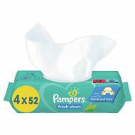 Pampers lingettes bébé freshclean 4x52