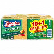 Spontex gratte-éponges stop graisse 10+4