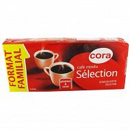 Cora café moulu sélection 4 x 250 g format familial